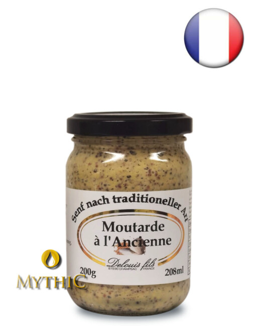 Moutarde Á L'Ancienne Old-Stile-Senf - Nach Traditioneller Art 200G