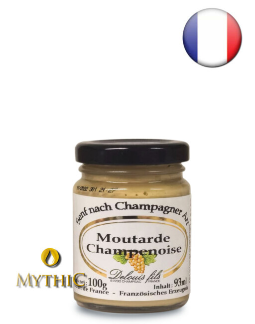 Senf Nach Champagner-Art Moutarde Champegnoise 93 Ml