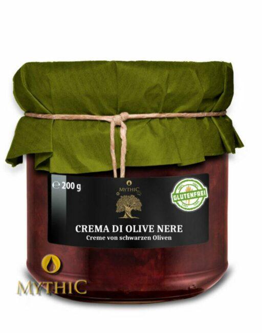 Oliven-Creme Aus Schwarzen Oliven